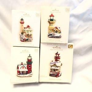 4 Hallmark Lighthouse Ornaments